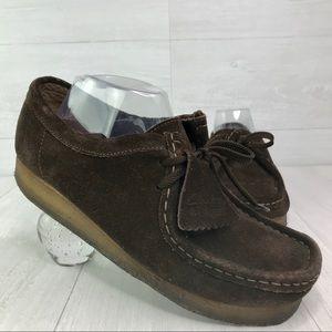 Clark's Originals Wallabee Dark Brown Suede Shoes